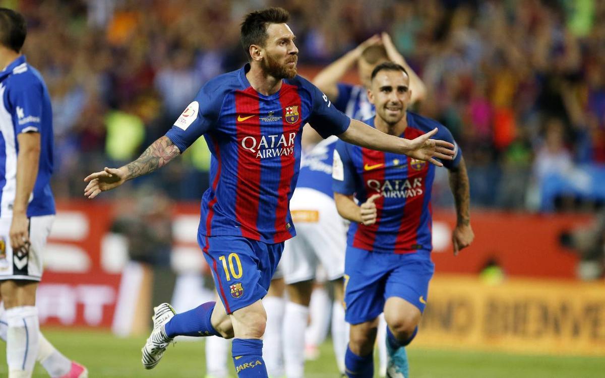 Todos los goles de Messi en las finales de Copa
