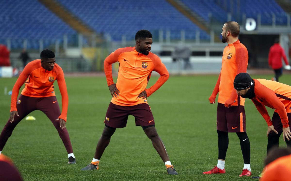 Vidéo - La première journée du FC Barcelone à Rome