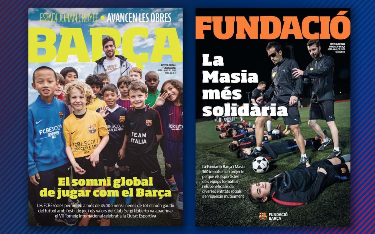 L'FCBEscola i els projectes socials de la Masia, protagonistes de la REVISTA BARÇA i la REVISTA FUNDACIÓ