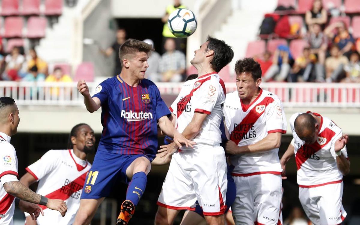 Barça B - Rayo Vallecano: Condenados por la efectividad visitante (2-3)