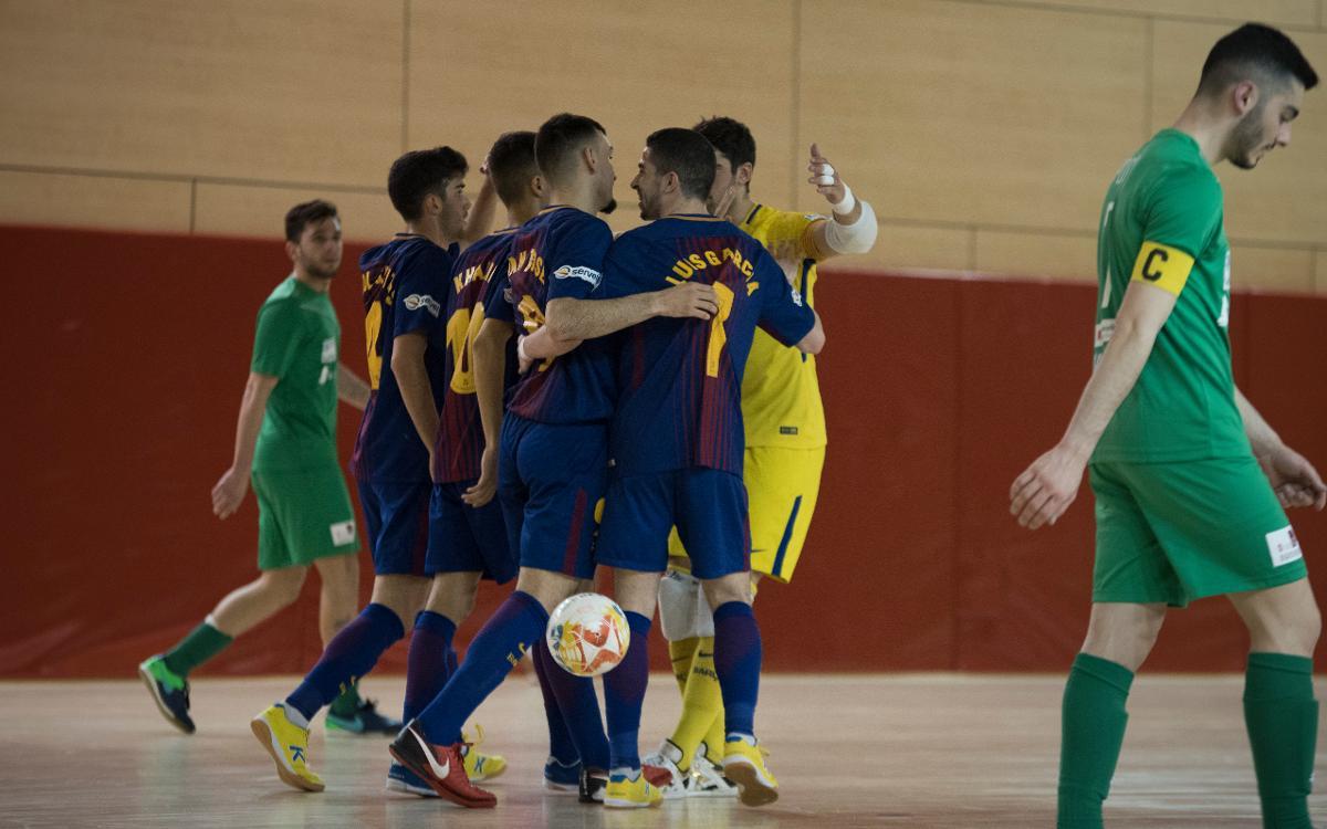 Barça Lassa B - Prone Lugo (6-0): Triunfo en el último partido en casa
