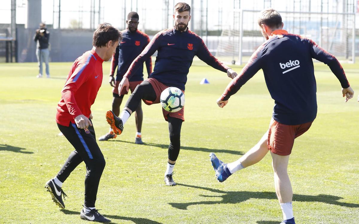 Thursday training as attention shifts to Leganés