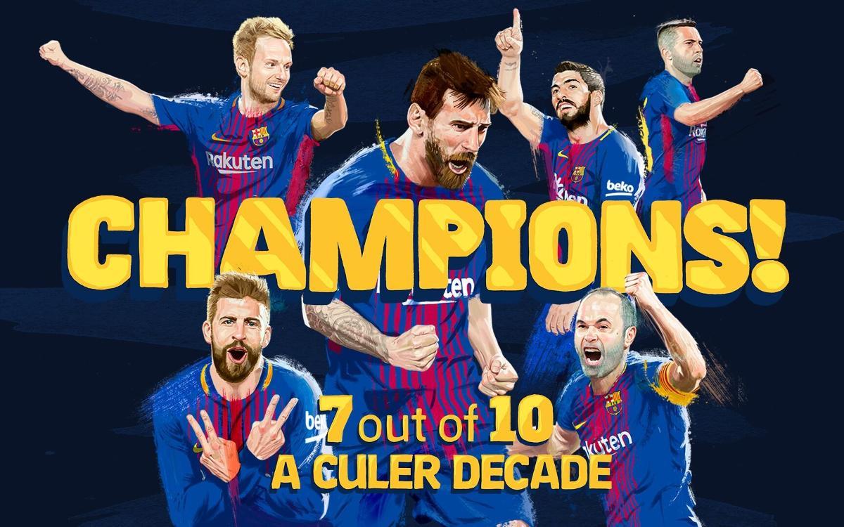 デポルティーボ– FC バルセロナ: リーグチャンピオン!(2-4)