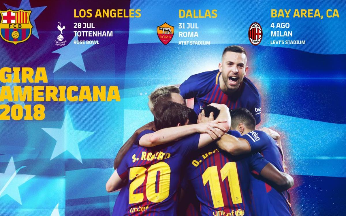 Tottenham, Roma i Milan, rivals a la gira americana
