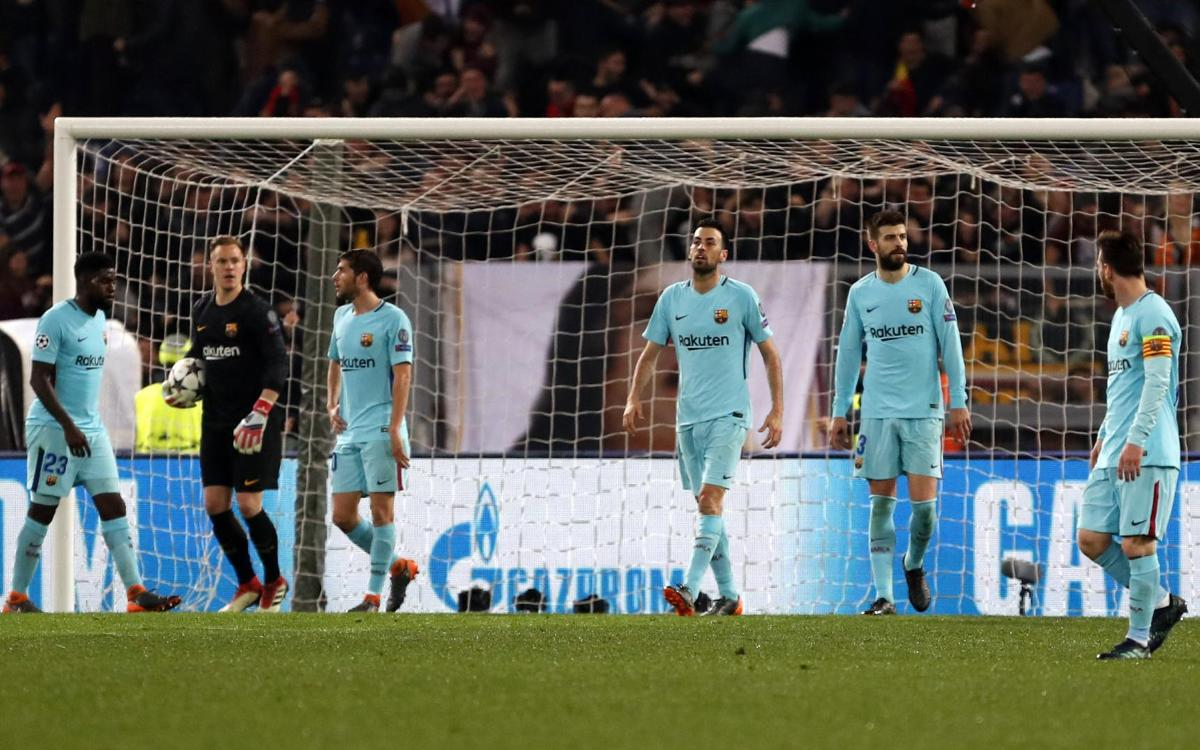 AS Roma 3-0 FC Barcelona: Goodbye to the Champions League