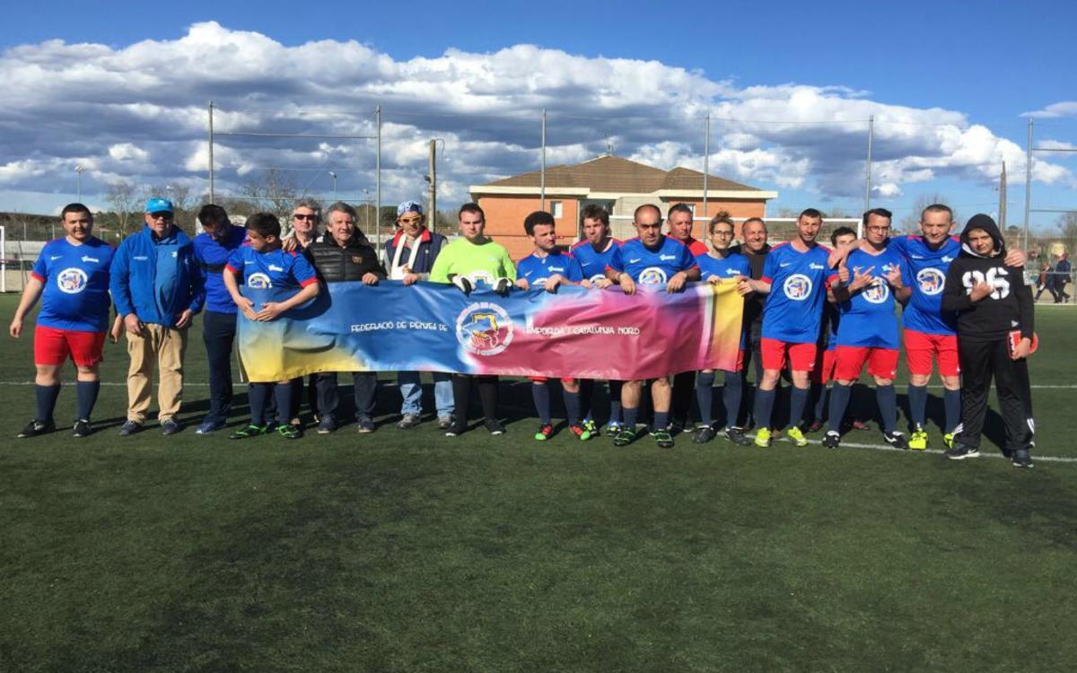La Federació de Penyes Barcelonistes de l'Empordà i Catalunya Nord aconsegueix que un grup de persones discapacitades participi al Torneig MIC Integra