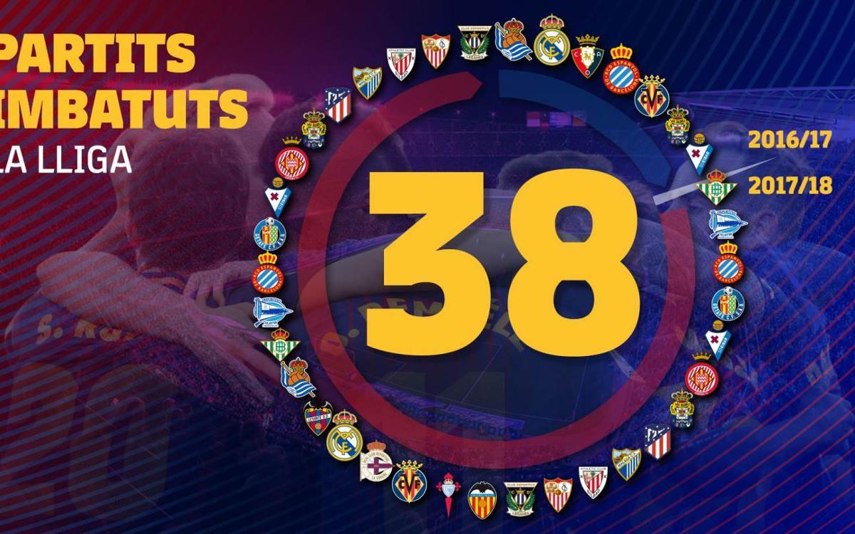 El FC Barcelona iguala el rècord d'imbatibilitat de la Reial Societat