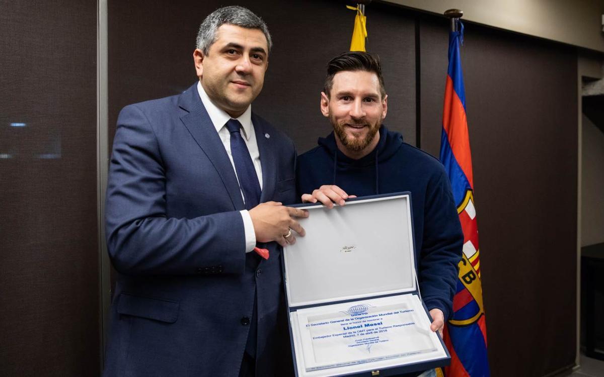 Leo Messi, nou Ambaixador de Turisme Responsable de l'Organització Mundial de Turisme