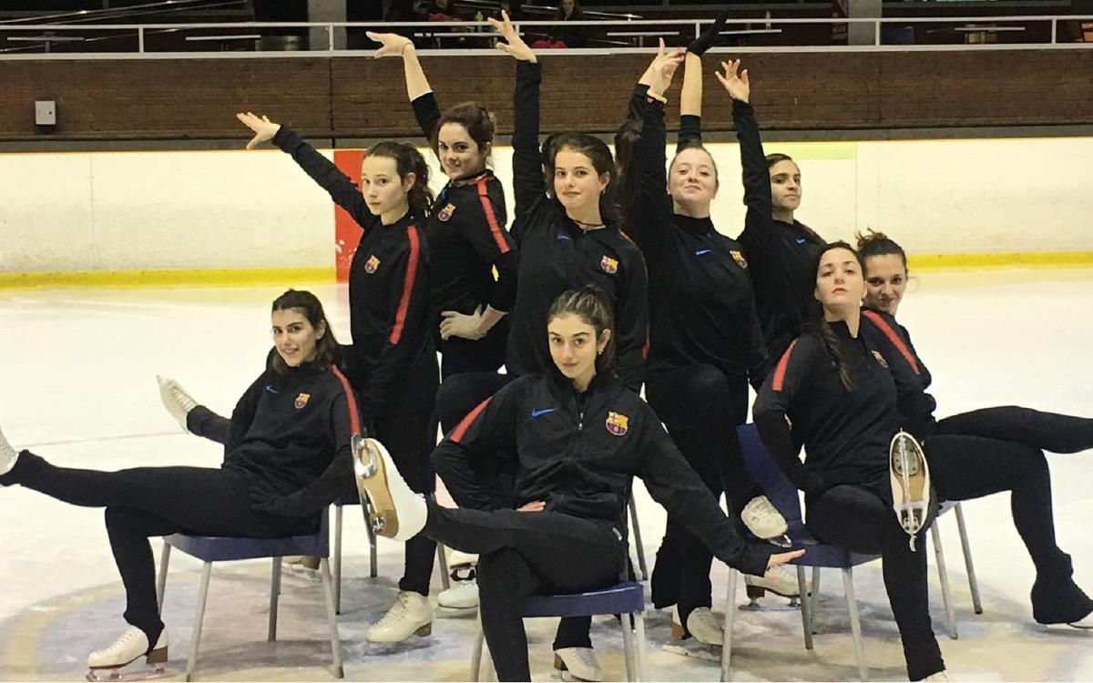 El equipo de ballet de la sección de patinaje a punto para la Copa de Toulouse 2018