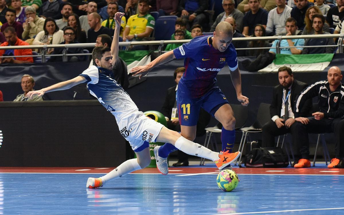 Barça Lassa - Ríos Renovables Zaragoza: Penalties condemn Barça (1-1, 1-3)