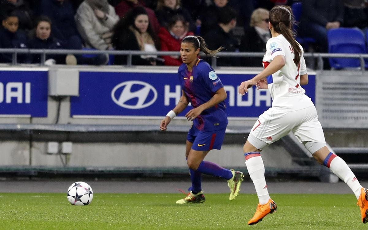 Fabiana, con una lesión en una rodilla, vuelve a Barcelona