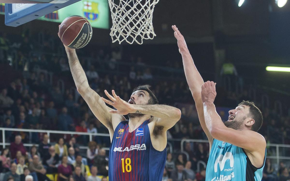 Barça Lassa - Estudiantes: Primera derrota en la Liga con Pesic (95-100)
