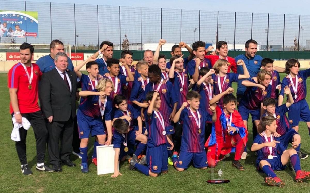 L'Infantil B guanya la Santander Cup