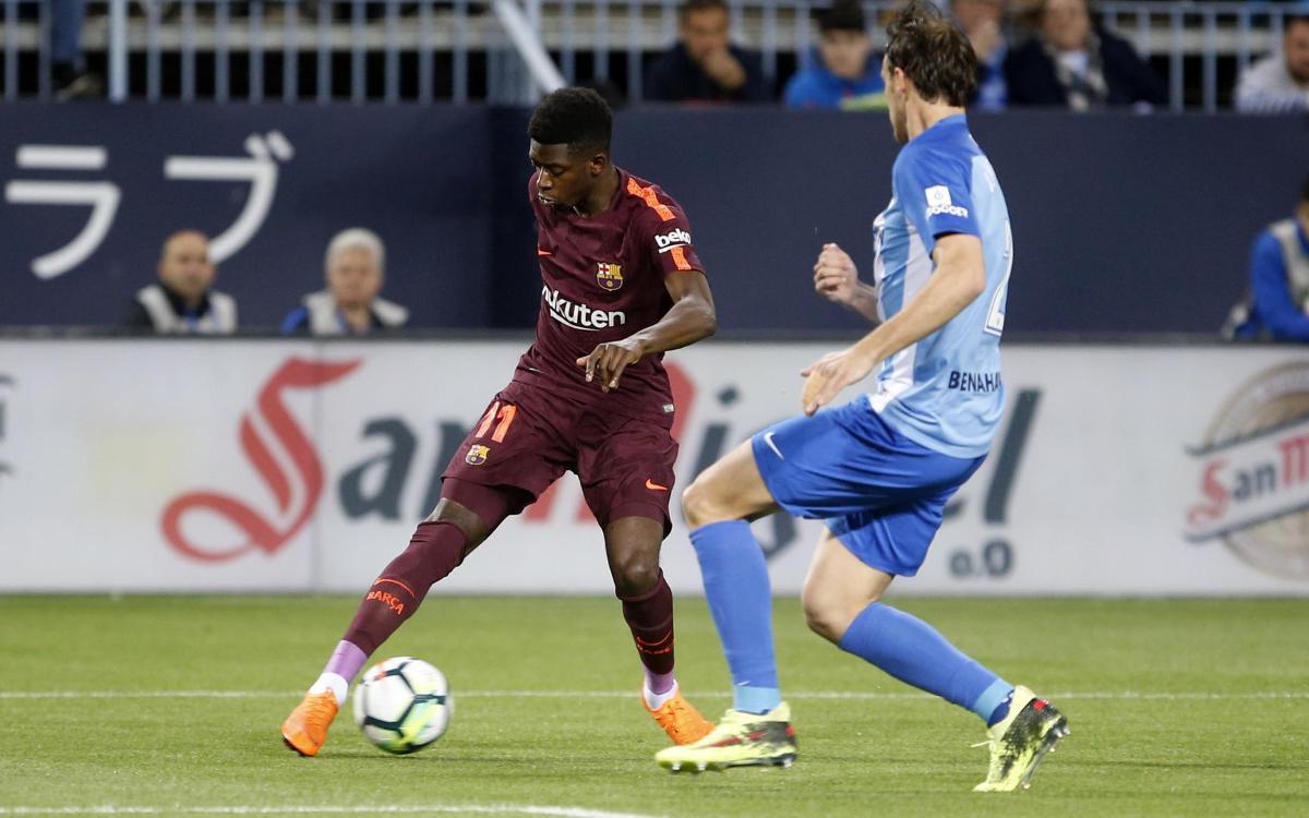 Las mejores acciones de Dembélé en Málaga