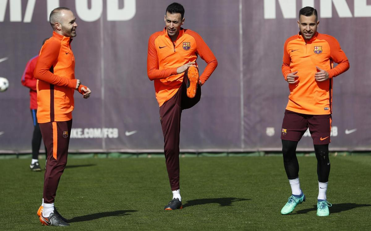 Sergio back in the squad for Barça vs Roma
