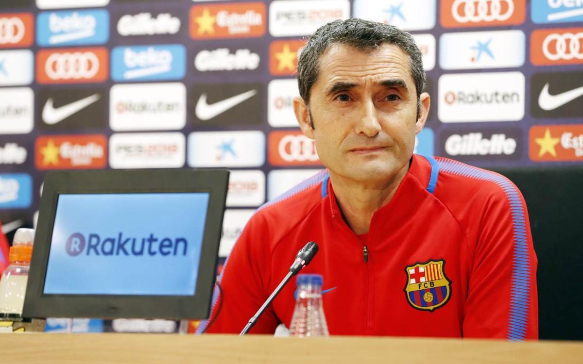 """Ernesto Valverde: """"Encara tenim molt a guanyar"""""""