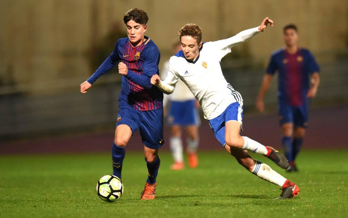 Saragossa – Juvenil A: Derrota per la mínima a Saragossa (1-0)