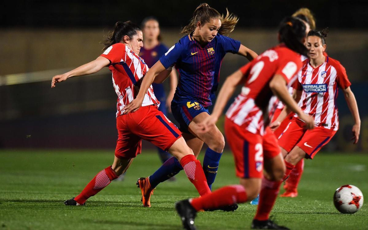 Barça Femenino - Atlético de Madrid: Todo queda igual (1-1)
