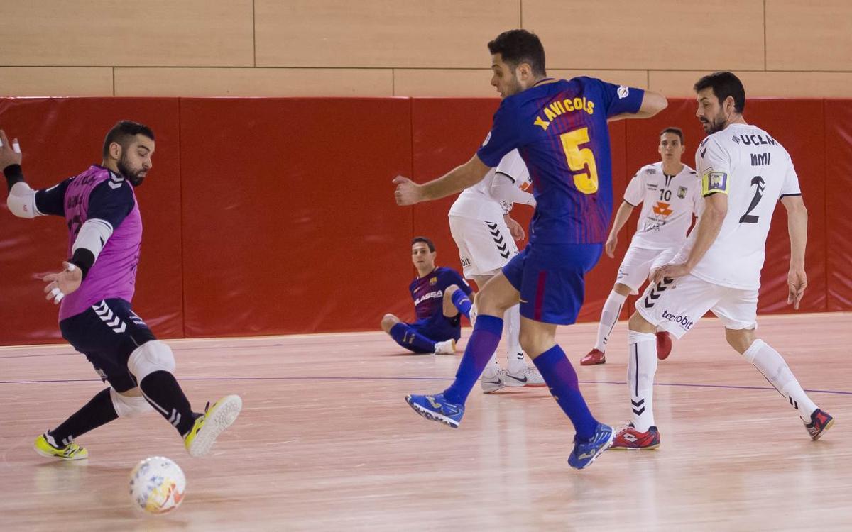 Barça Lassa - FS Valdepeñas: Reparto de puntos en un duelo trepidante (5-5)