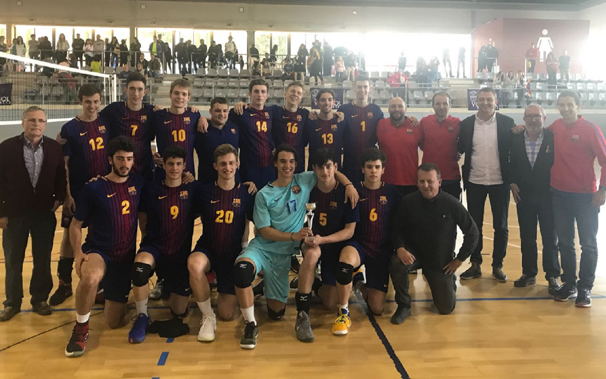 El Barça domina el campeonato de Catalunya Juvenil de voleibol