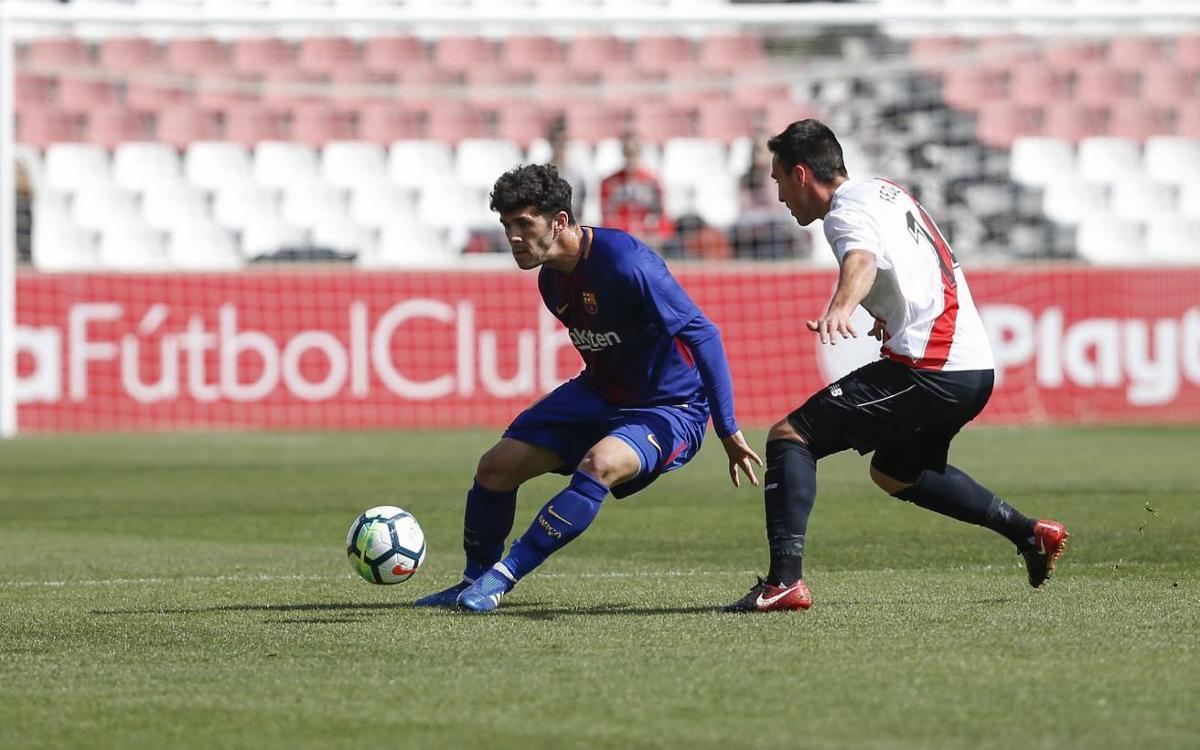 Sevilla Atlético - Barça B: Superados por la efectividad andaluza a balón parado (3-1)