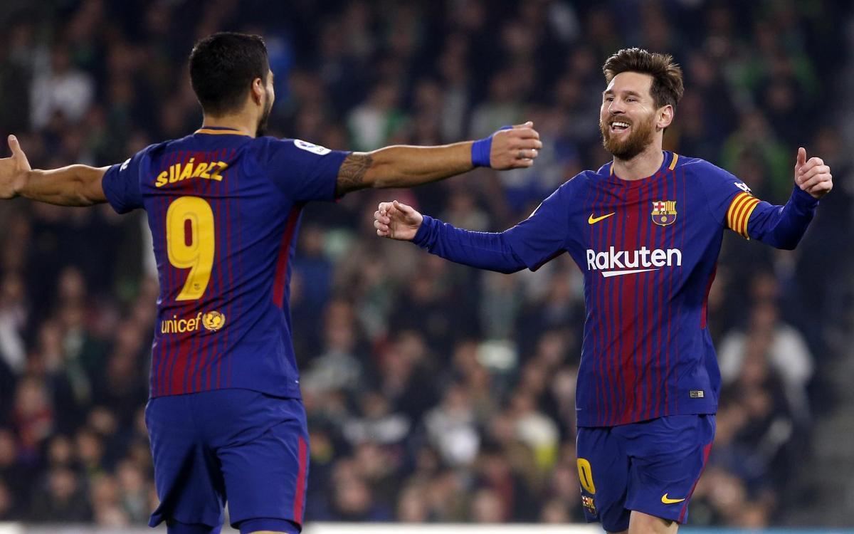 レアルベティス - FC バルセロナ :後半の圧勝(0-5)