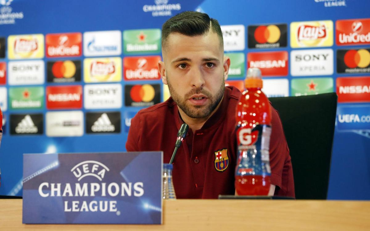 Jordi Alba: 'Even more confident than in the treble season'