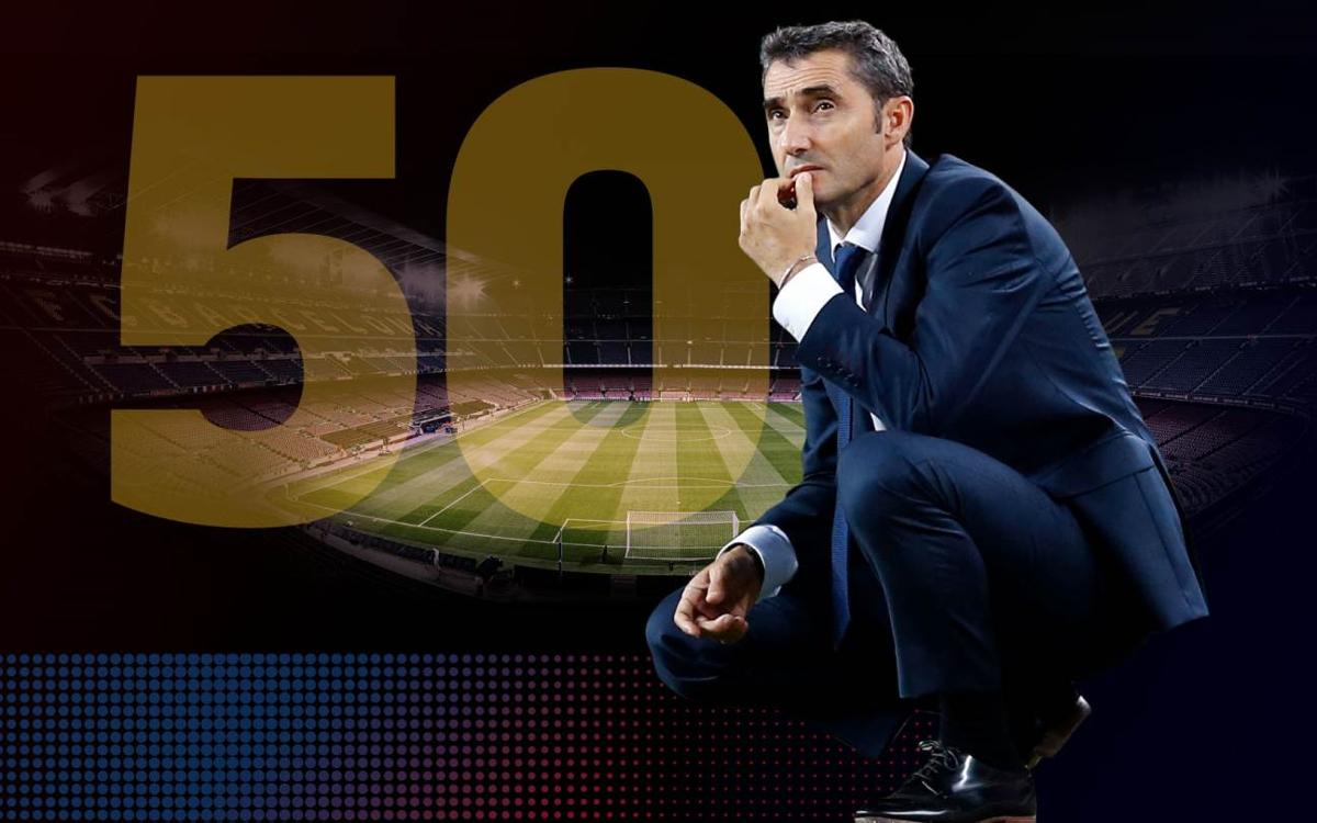 Valverde cumple 50 partidos como técnico azulgrana