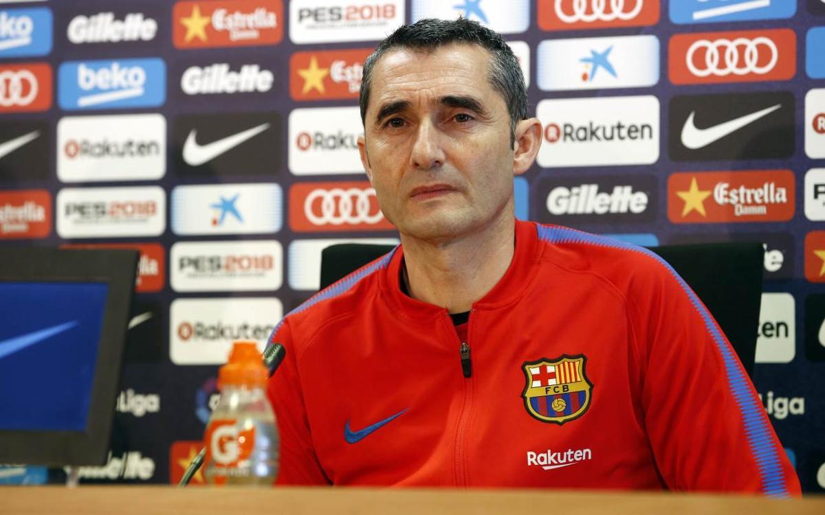 """Valverde: """"L'Athletic creix en les dificultats i és perillós perquè té un gran esperit"""""""