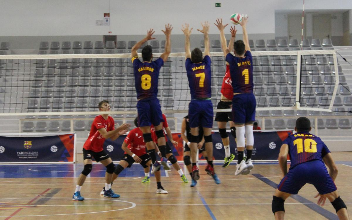 El Voleibol masculino tropieza en Gran Canaria (3-0)