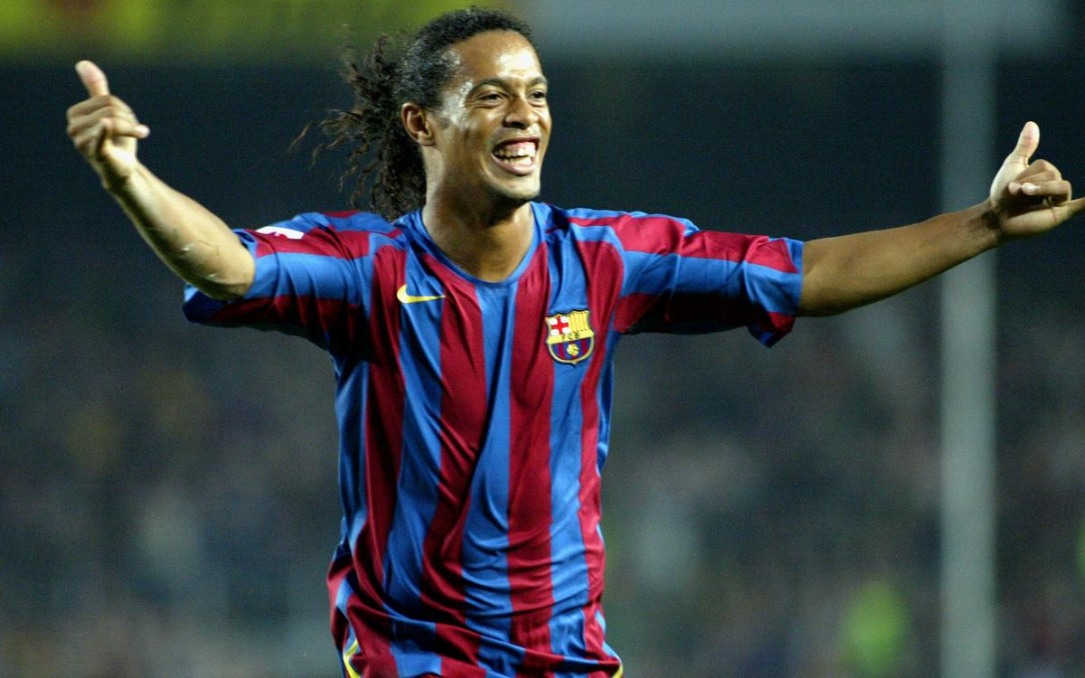 All of Ronaldinho's goals with FC Barcelona