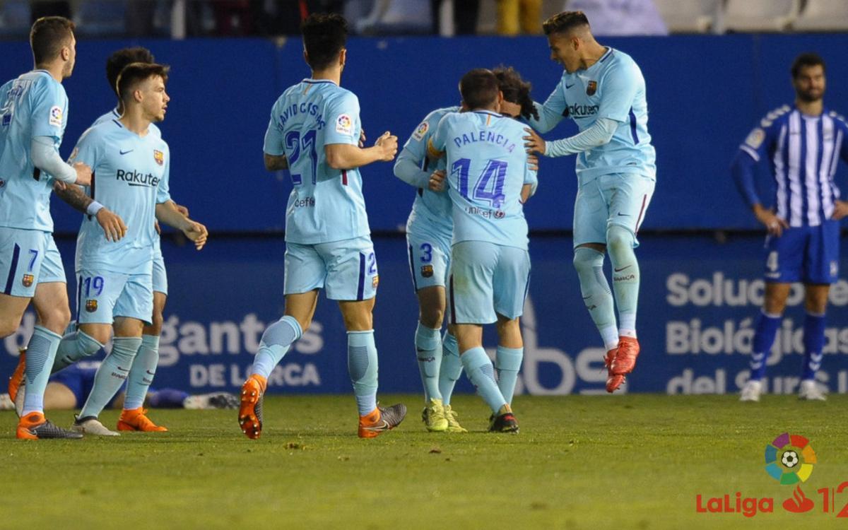 Lorca FC - Barça B: Continúa la racha a domicilio (1-1)