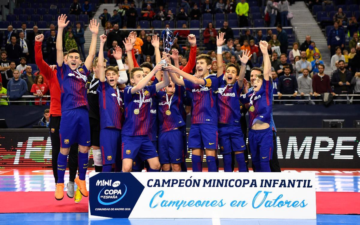 Barça Lassa – ElPozo Múrcia (4-2): Sisena Minicopa Blaugrana de futbol sala