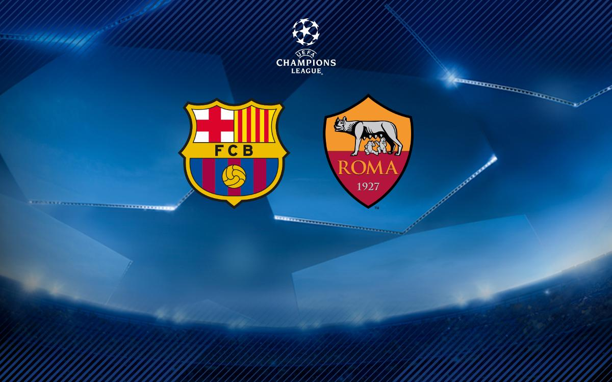 AS Roma will be Barça's opponents in the Champions League quarter finals