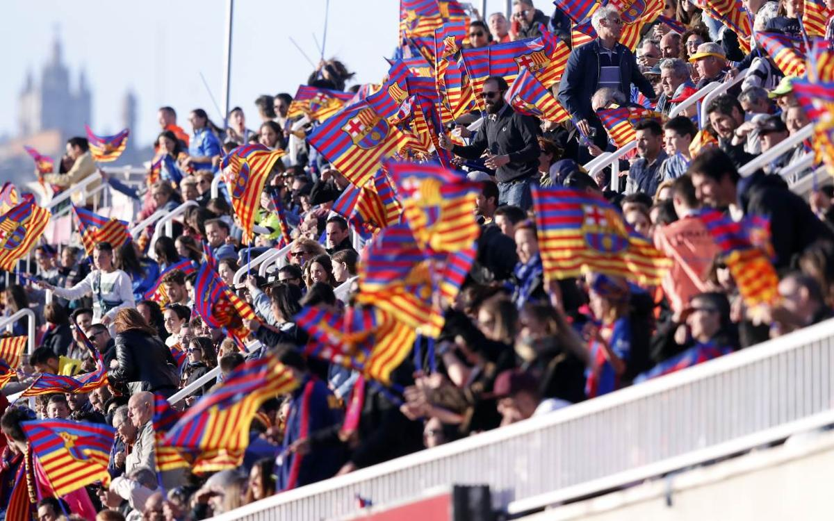 Barça Femení – Olympique de Lió: Entrades anticipades gratuïtes a taquilles i per Internet des d'aquest dilluns