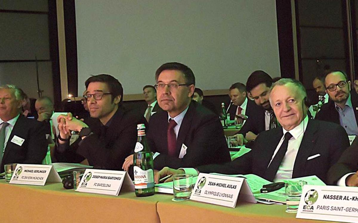 Bartomeu attends ECA Assembly in Rome