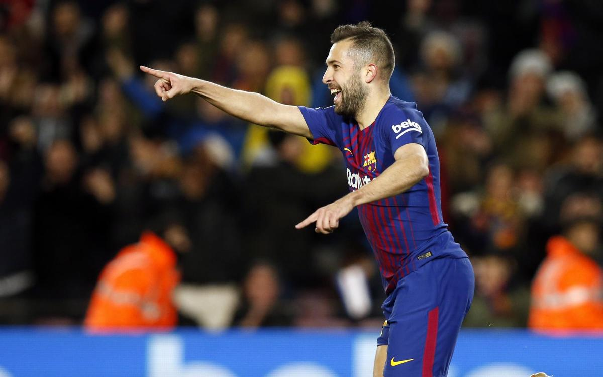 The season in which Jordi Alba has assisted the most