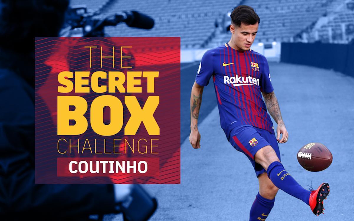 El reto de Coutinho con las cajas sorpresa