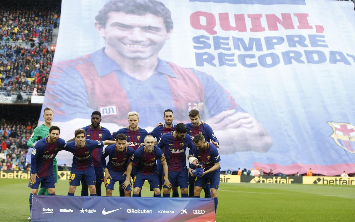 L'últim adeu del FC Barcelona a Enrique Castro 'Quini'