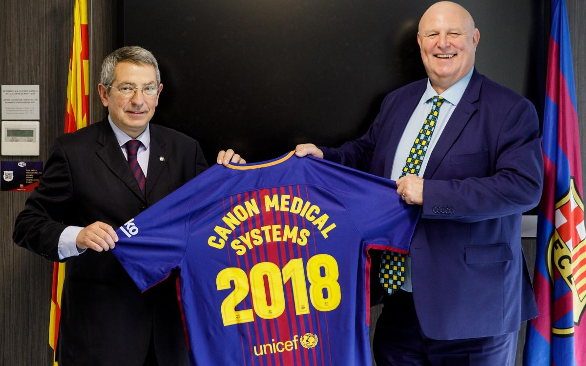 Canon Medical Systems visits FC Barcelona medical services