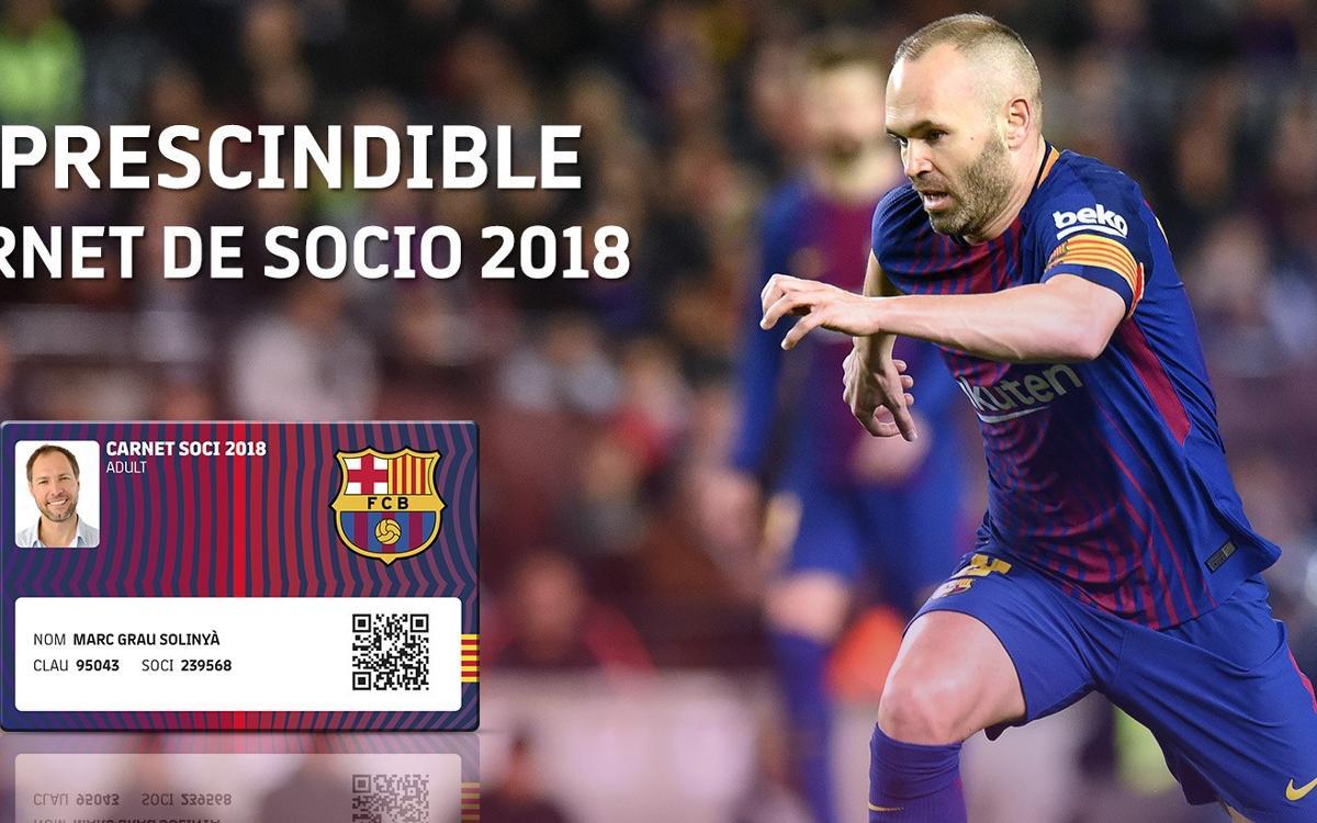 Imprescindible el carné de socio del 2018 para el Barça - Chelsea