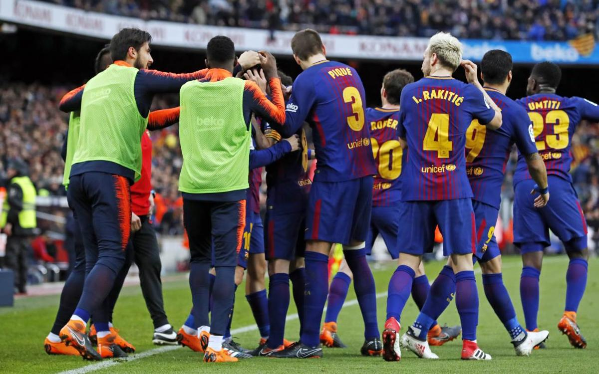 Barça reach 100 goals for the season