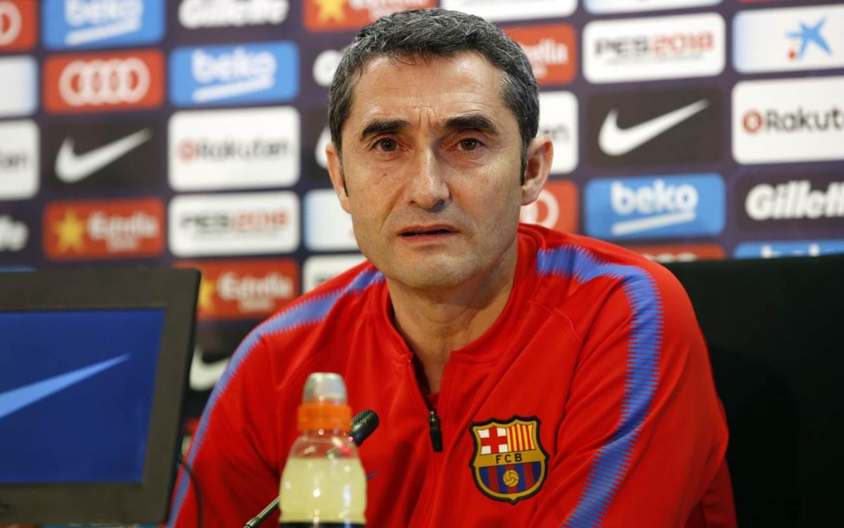 Ernesto Valverde: 'I have the feeling that the team will respond'