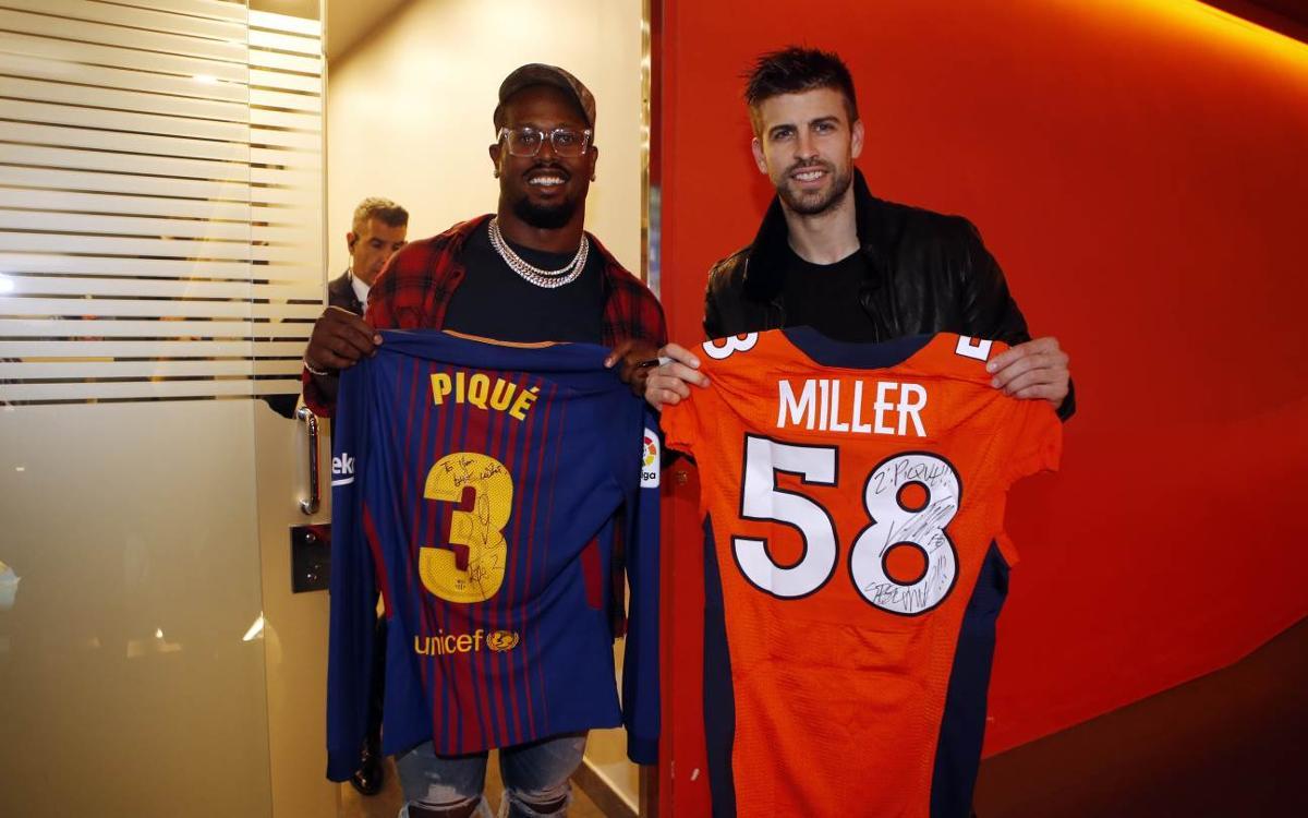 Quatre jugadors de la NFL, visitants de luxe al Camp Nou