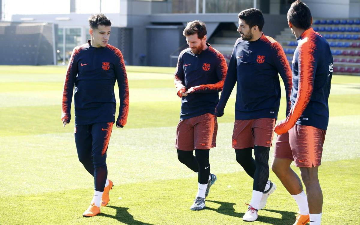 Training for players not involved in Catalan Super Cup