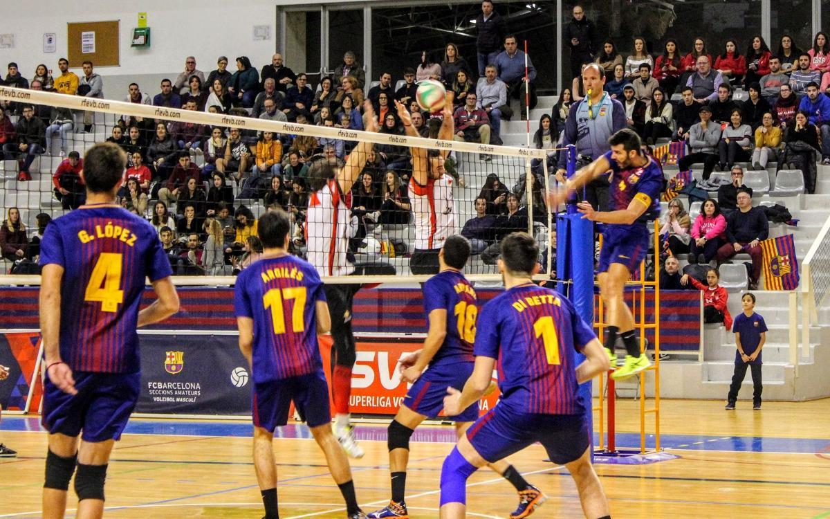 El Barça busca una victòria per seguir pressionant l'Ushuaïa Ibiza Voley