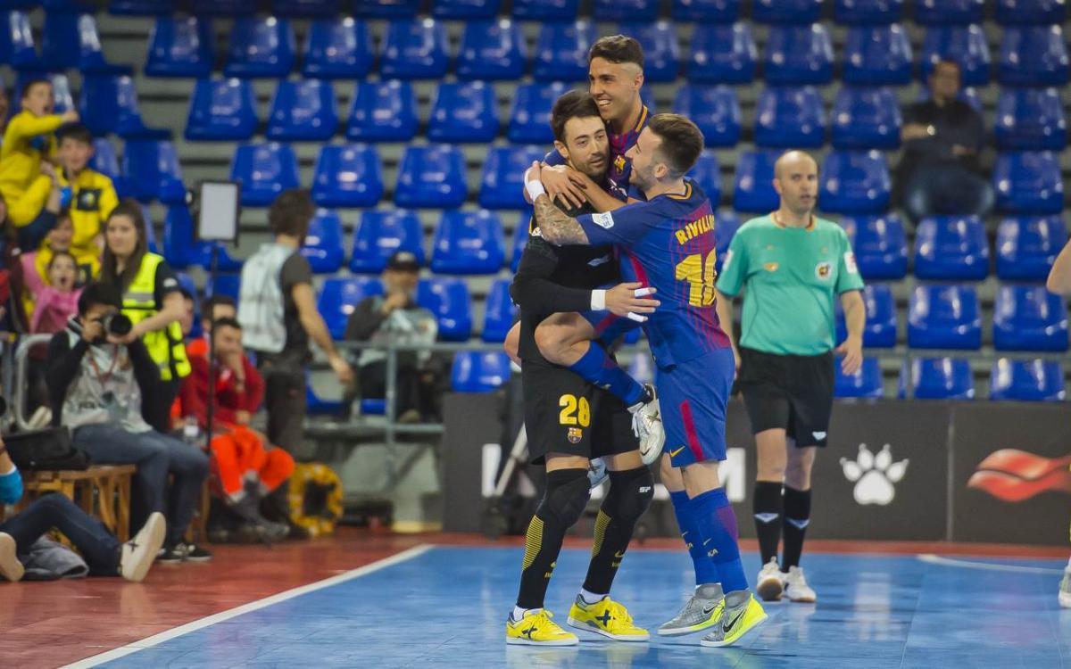Barça Lassa - Jaén Paraíso Interior: Victoria con un Sedano heroico (3-1)
