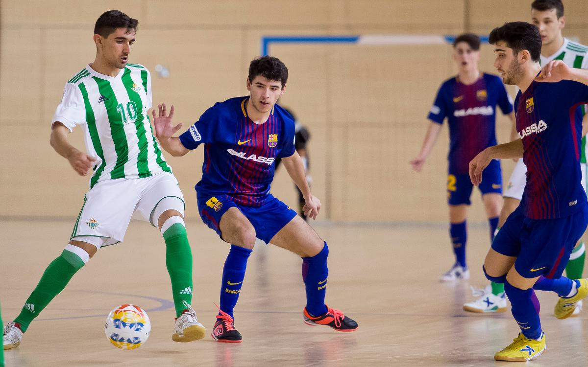 Barça Lassa B – Real Betis Futsal (5-3): Remuntada d'orgull