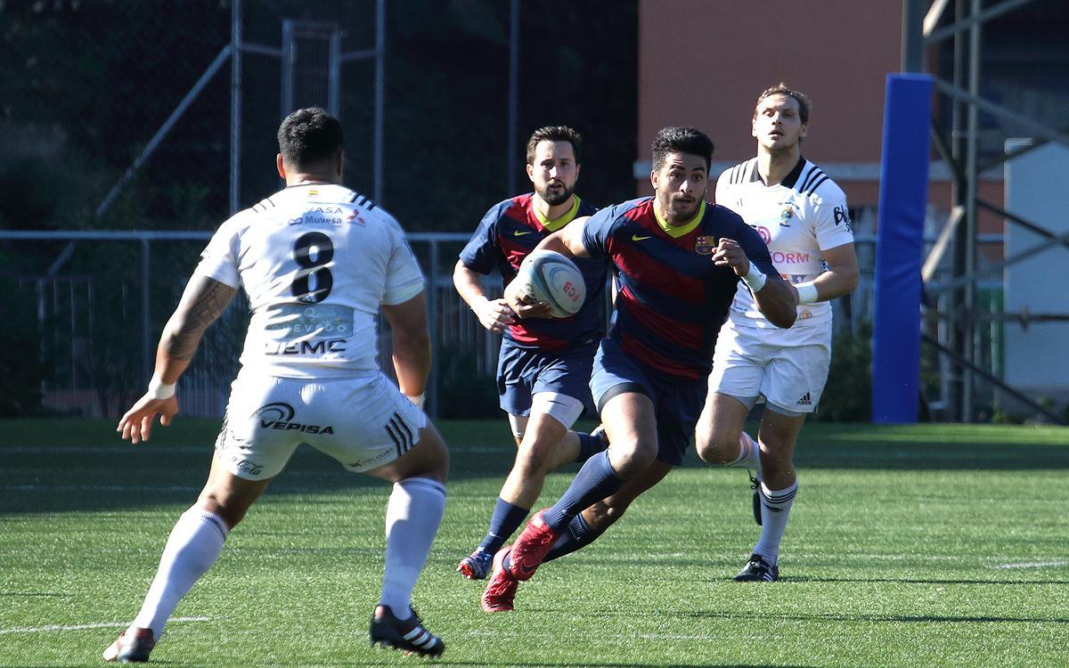 El FC Barcelona no consigue superar al Sanitas Alcobendas Rugby (64-12)