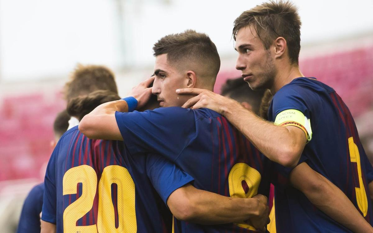 Barça U19A v Olympiacos: Comfortable victory brings qualification closer (5-0)